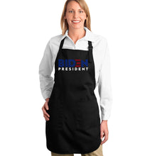 Load image into Gallery viewer, LA Pop Art Full Length Word Art Apron - Biden 2020
