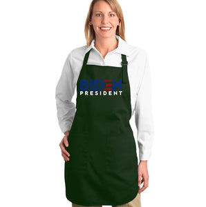 LA Pop Art Full Length Word Art Apron - Biden 2020
