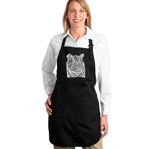 LA Pop Art Full Length Word Art Apron - Big Cats