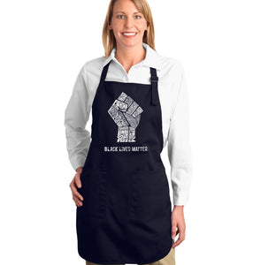 LA Pop Art Full Length Word Art Apron - Black Lives Matter