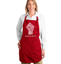 Load image into Gallery viewer, LA Pop Art Full Length Word Art Apron - Black Lives Matter