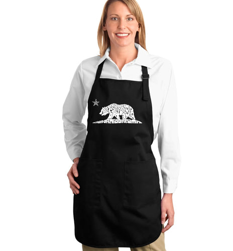 LA Pop Art Full Length Word Art Apron - California Dreamin