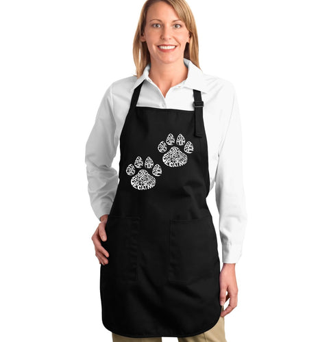 LA Pop Art Full Length Word Art Apron - Cat Mom