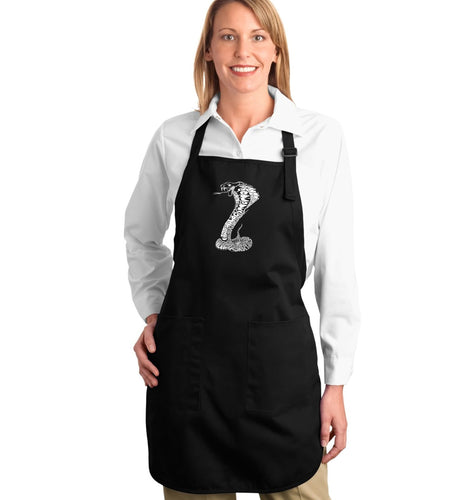 LA Pop Art Full Length Word Art Apron - Types of Snakes