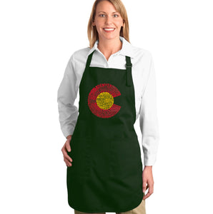 LA Pop Art Full Length Word Art Apron - Colorado