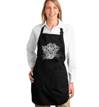 Load image into Gallery viewer, LA Pop Art  Full Length Word Art Apron - Cat Face