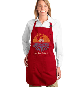 LA Pop Art Full Length Word Art Apron - Cities In San Diego