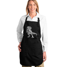 Load image into Gallery viewer, LA Pop Art Full Length Word Art Apron - Dino Pics