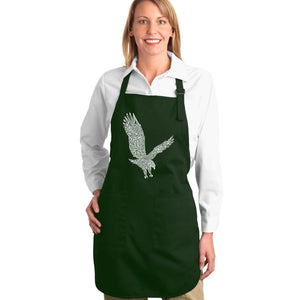 LA Pop Art Full Length Word Art Apron - Eagle