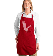 Load image into Gallery viewer, LA Pop Art Full Length Word Art Apron - Eagle