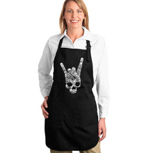 Load image into Gallery viewer, LA Pop Art Full Length Word Art Apron - Heavy Metal Genres