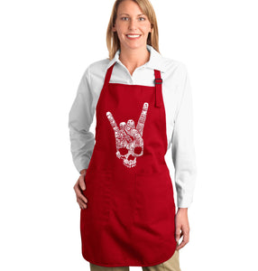 LA Pop Art Full Length Word Art Apron - Heavy Metal Genres
