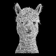 Load image into Gallery viewer, LA Pop Art Girl's Word Art T-shirt - Alpaca