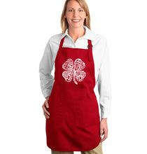 Load image into Gallery viewer, LA Pop Art Full Length Word Art Apron - Feeling Lucky