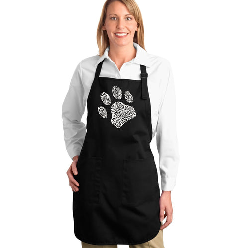 LA Pop Art Full Length Word Art Apron - Dog Paw