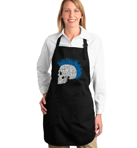 LA Pop Art Full Length Word Art Apron - Punk Mohawk