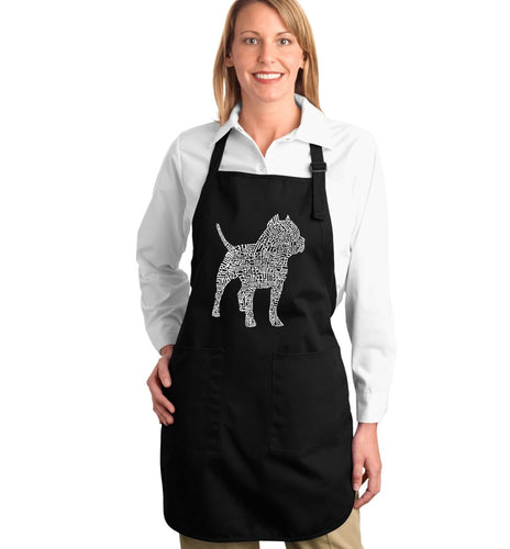 LA Pop Art  Full Length Word Art Apron - Pitbull