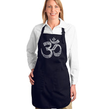 Load image into Gallery viewer, LA Pop Art Full Length Word Art Apron - Poses OM