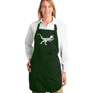 LA Pop Art Full Length Word Art Apron - Velociraptor