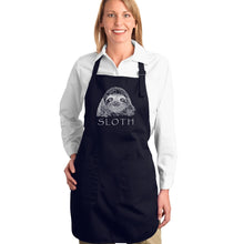 Load image into Gallery viewer, LA Pop Art Full Length Word Art Apron - Sloth