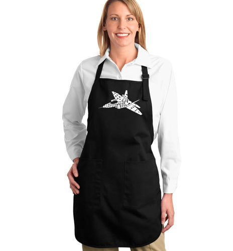 LA Pop Art Full Length Word Art Apron - FIGHTER JET - NEED FOR SPEED
