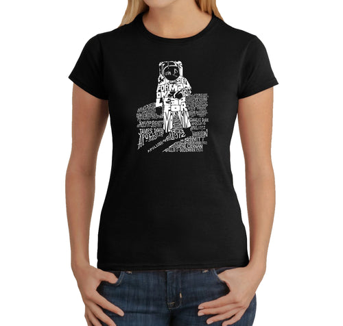 LA Pop Art Women's Word Art T-Shirt - ASTRONAUT