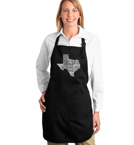 LA Pop Art Full Length Word Art Apron - The Great State of Texas
