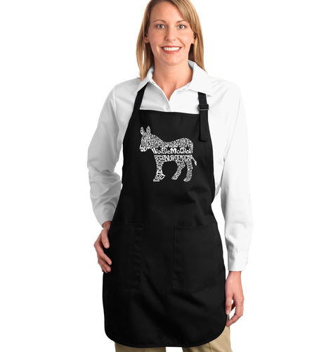 LA Pop Art Full Length Word Art Apron - I Vote Democrat