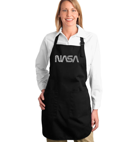 LA Pop Art Full Length Word Art Apron - Worm Nasa