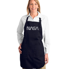 Load image into Gallery viewer, LA Pop Art Full Length Word Art Apron - Worm Nasa