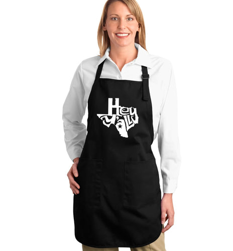 LA Pop Art Full Length Word Art Apron - Hey Yall