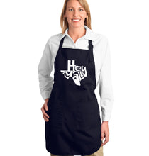 Load image into Gallery viewer, LA Pop Art Full Length Word Art Apron - Hey Yall