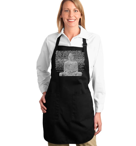 LA Pop Art Full Length Word Art Apron - Zen Buddha