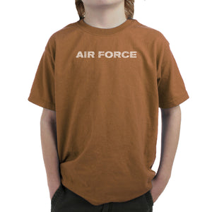 LA Pop Art Boy's Word Art T-shirt - Lyrics To The Air Force Song