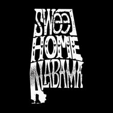 Load image into Gallery viewer, LA Pop Art Men's Word Art Hooded Sweatshirt - Sweet Home Alabama