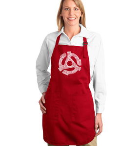 LA Pop Art Full Length Word Art Apron - Record Adapter