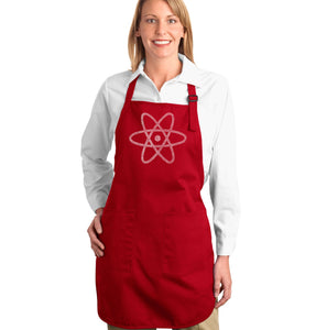 LA Pop Art Full Length Word Art Apron - ATOM