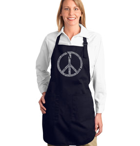 LA Pop Art Full Length Word Art Apron - EVERY MAJOR WORLD CONFLICT SINCE 1770
