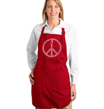 Load image into Gallery viewer, LA Pop Art Full Length Word Art Apron - EVERY MAJOR WORLD CONFLICT SINCE 1770