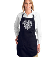 Load image into Gallery viewer, LA Pop Art Full Length Word Art Apron - LOVE