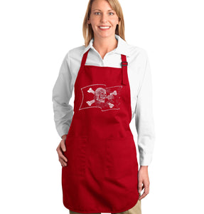 LA Pop Art Full Length Word Art Apron - FAMOUS PIRATE CAPTAINS AND SHIPS