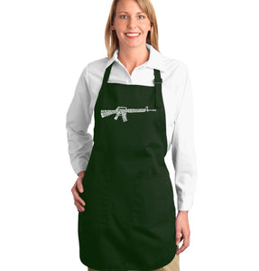 LA Pop Art Full Length Word Art Apron - RIFLEMANS CREED