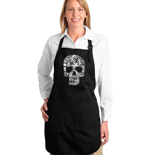 LA Pop Art Full Length Word Art Apron - Sex, Drugs, Rock & Roll