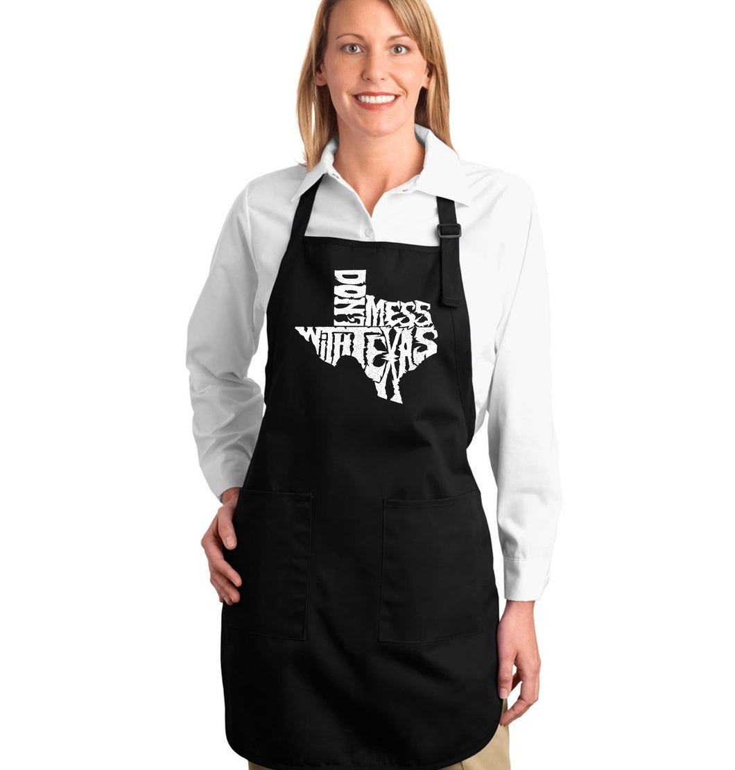 LA Pop Art Full Length Word Art Apron - DONT MESS WITH TEXAS