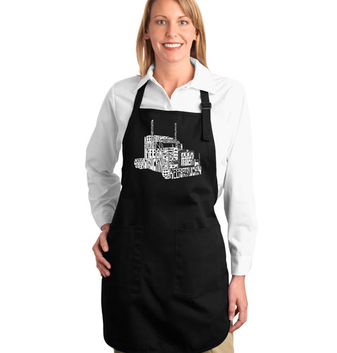 LA Pop Art Full Length Word Art Apron - KEEP ON TRUCKIN'