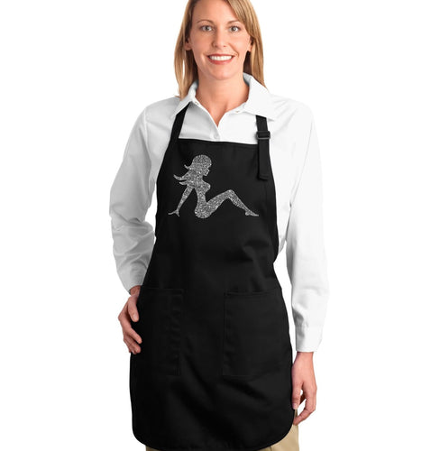 LA Pop Art Full Length Word Art Apron - MUDFLAP GIRL