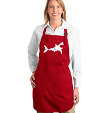 Load image into Gallery viewer, LA Pop Art Full Length Word Art Apron - BITE ME
