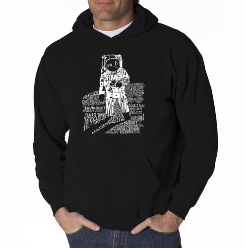 LA Pop Art Men's Word Art Hooded Sweatshirt - ASTRONAUT