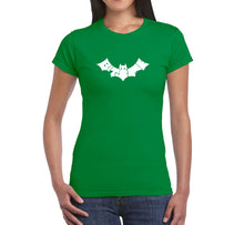 Load image into Gallery viewer, LA Pop Art Women's Word Art T-Shirt - BAT - BITE ME