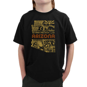 LA Pop Art Boy's Word Art T-shirt - Az Pics